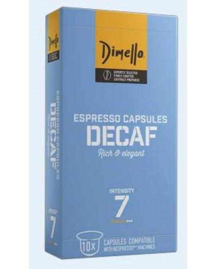 Decaf espresso capsules